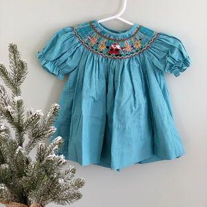 Other - Girls 3-6 Christmas Smocked Gingham Bishop Dress